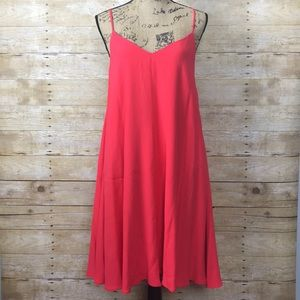 n/nicholas Crepe Diamond Cami Dress in Poppy Red